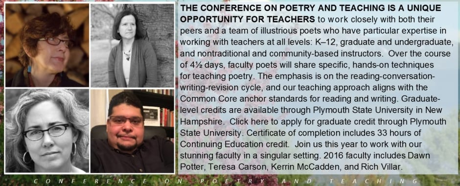2016 Conference on Poetry and Teaching
